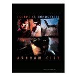 El escape de la ciudad de Arkham es imposible Tarjetas Postales