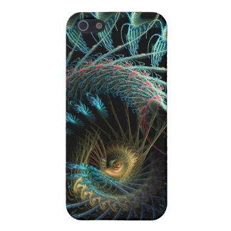 El escarabajo Shell del fractal de la aguamarina m iPhone 5 Carcasa