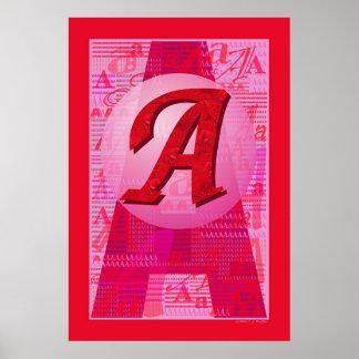 El escarlata Letter Posters