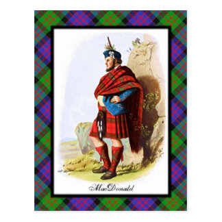 El escocés de MacDonald del clan soña la postal