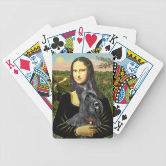 El escocés de Mona Lisa Terrier (#1) Baraja De Cartas