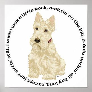 El escocés de trigo Terrier reflexiona Posters
