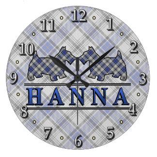 El escocés del tartán de Hannay Hanna del clan Reloj Redondo Grande