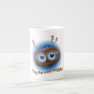 El escocés 'Hoots los toques de bocina Haggis Taza De Porcelana