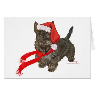 El escocés Terrier es el ayudante de Santa Tarjeta