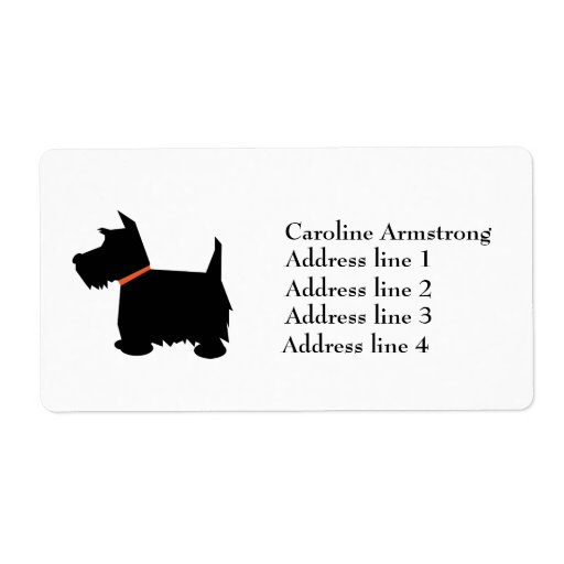 El escocés Terrier personalizó etiquetas de direcc Etiqueta De Envío