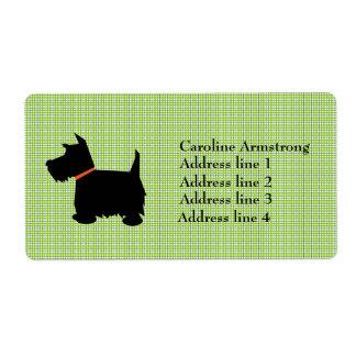 El escocés Terrier personalizó etiquetas de direcc Etiquetas De Envío
