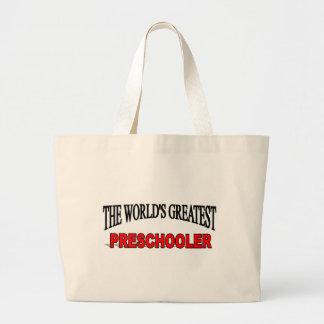 El escolar más grande del mundo pre bolsa lienzo