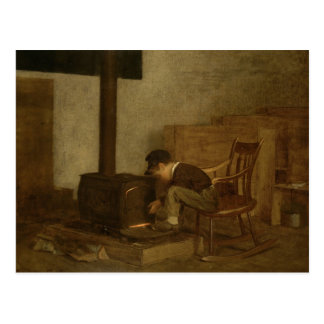 El escolar temprano - Eastman Johnson Postal