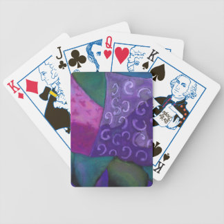 El escondite - cielo púrpura y magenta abstracto baraja cartas de poker