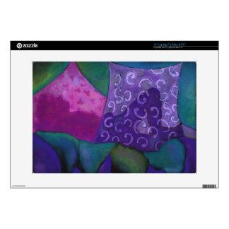El escondite - cielo púrpura y magenta abstracto calcomanía para 38,1cm portátil