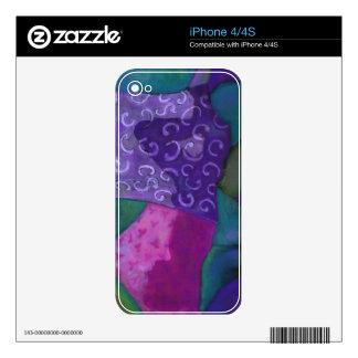 El escondite - cielo púrpura y magenta abstracto calcomanías para el iPhone 4S