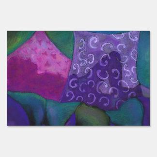 El escondite - cielo púrpura y magenta abstracto cartel