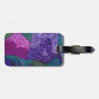 El escondite - cielo púrpura y magenta abstracto etiquetas bolsa