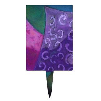 El escondite - cielo púrpura y magenta abstracto figura de tarta