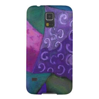 El escondite - cielo púrpura y magenta abstracto carcasas para galaxy s5