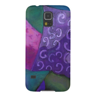 El escondite - cielo púrpura y magenta abstracto funda galaxy s5