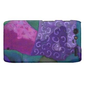 El escondite - cielo púrpura y magenta abstracto funda para droid RAZR