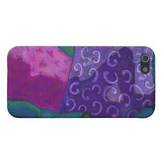 El escondite - cielo púrpura y magenta abstracto iPhone 5 carcasas