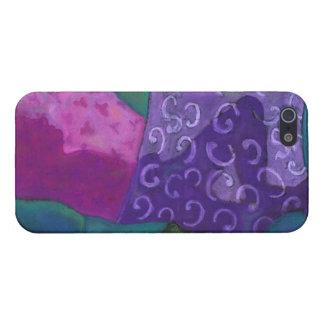 El escondite - cielo púrpura y magenta abstracto iPhone 5 fundas