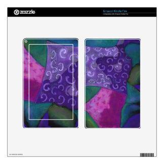 El escondite - cielo púrpura y magenta abstracto kindle fire pegatina skin