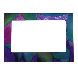 El escondite - cielo púrpura y magenta abstracto marcos magnéticos para fotos