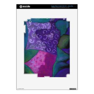 El escondite - cielo púrpura y magenta abstracto pegatinas skins para iPad 3