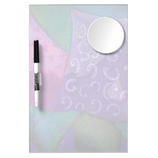 El escondite - cielo púrpura y magenta abstracto tablero blanco