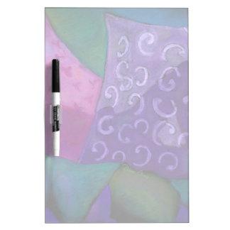 El escondite - cielo púrpura y magenta abstracto pizarra blanca