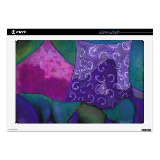 El escondite - cielo púrpura y magenta abstracto portátil calcomanías