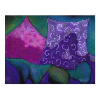 El escondite - cielo púrpura y magenta abstracto postales