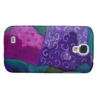 El escondite - cielo púrpura y magenta abstracto samsung galaxy s4 cover