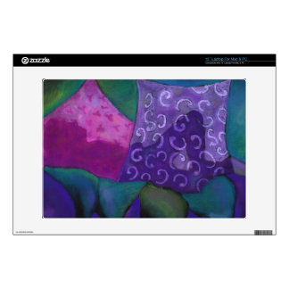 El escondite - cielo púrpura y magenta abstracto skins para 33cm portátiles