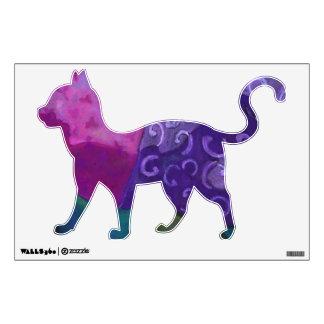 El escondite - cielo púrpura y magenta abstracto vinilo adhesivo