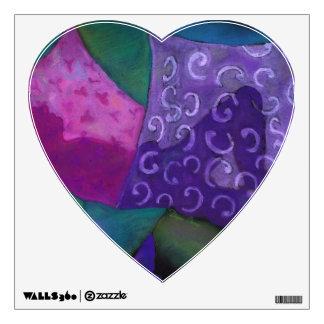 El escondite - cielo púrpura y magenta abstracto vinilo decorativo