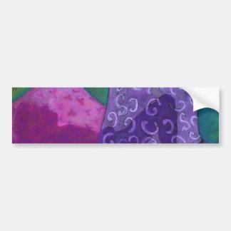 El escondite, cielo rosado púrpura etiqueta de parachoque