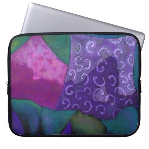 El escondite, cielo rosado púrpura mangas computadora