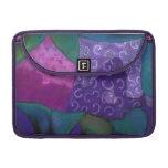 El escondite, cielo rosado púrpura fundas para macbooks
