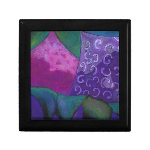 El escondite, cielo rosado púrpura cajas de recuerdo