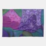 El escondite, cielo rosado púrpura toalla de cocina