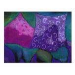 El escondite, cielo rosado púrpura postal
