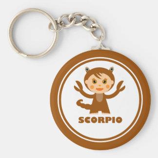 El escorpión es mi muestra del zodiaco llavero redondo tipo pin