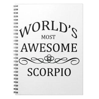 El escorpión más impresionante del mundo spiral notebooks