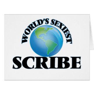 El escribano más atractivo del mundo tarjeton