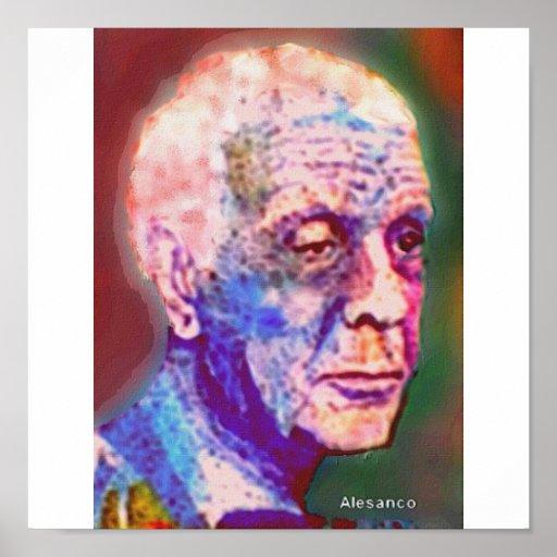 EL escritor. de Borges Poster