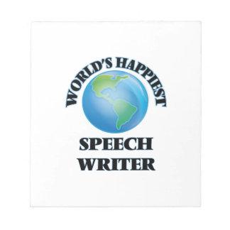 El escritor del discurso más feliz del mundo bloc