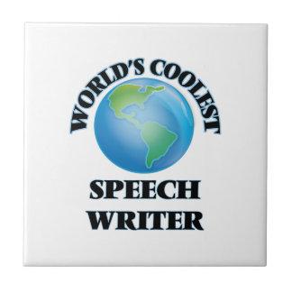 El escritor del discurso más fresco del mundo teja  ceramica