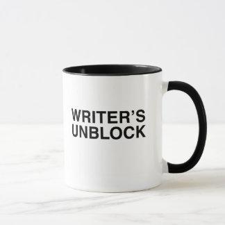El escritor desbloquea la taza