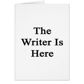 El escritor está aquí felicitación