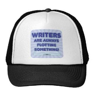 ¡El escritor está trazando algo! Gorros Bordados